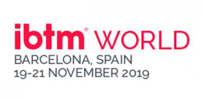 Red IBTM world Barcelona, Spain logo 2019