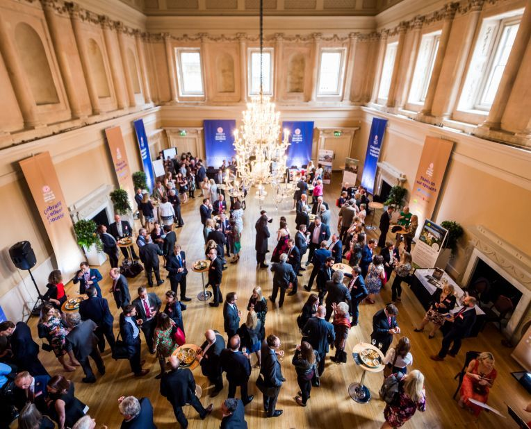 drinks reception at Bath Assembly Rooms