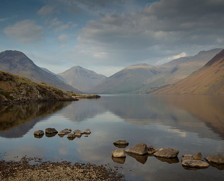 view of Wastwater in the Lake District