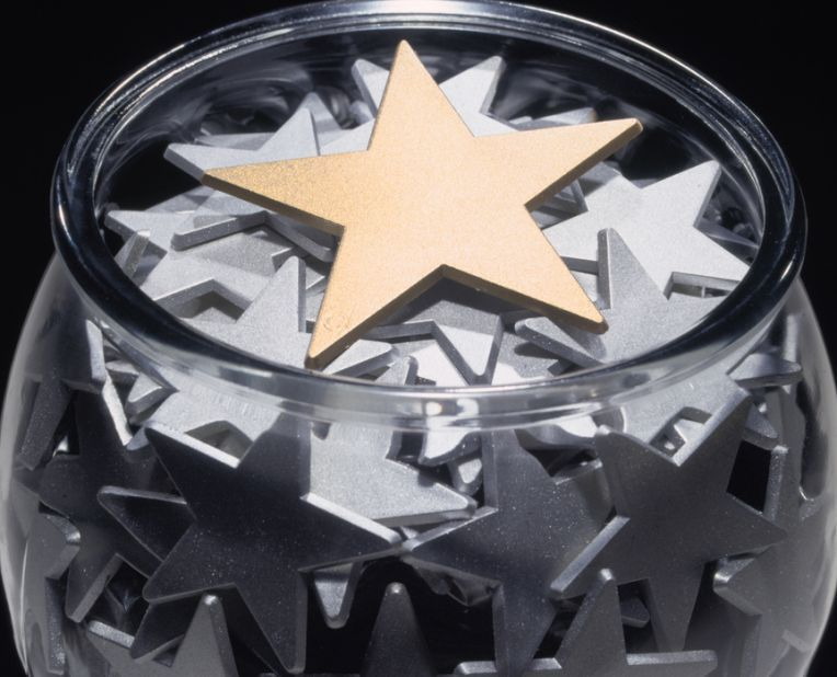 Jar full of star shapes