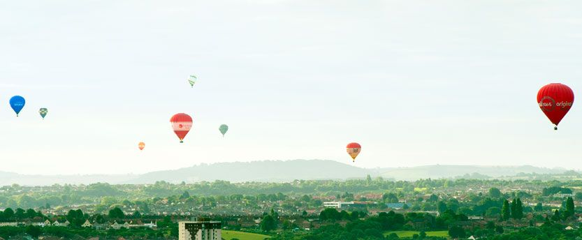 Balloons in the sky over Bristol