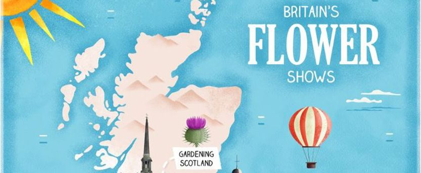 Britain's Flower Show map