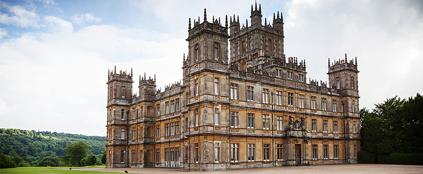 Highclere Castle on a sunny day
