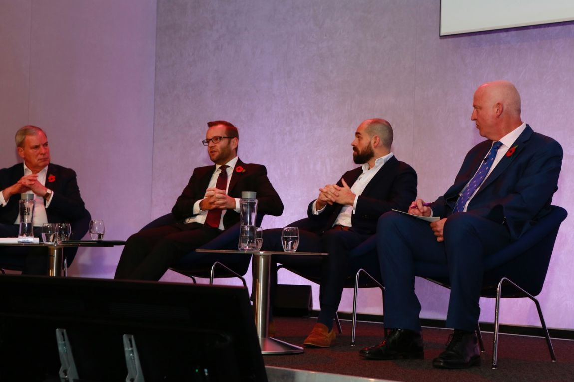 Simon Hughes, MC. Giles Smith, Head of Tourism, Heritage & Cultural Diplomacy, DCMS. Robin Johnson, Europe Director, VB. Joss Croft, Managing Director Marketing DIT