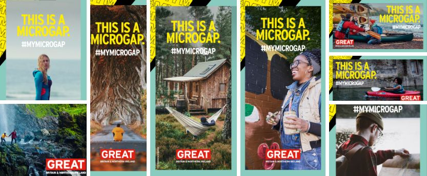 collage of microgap campaigns