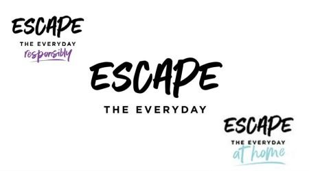 Collage of logos for Escape The Everyday