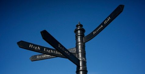 A signpost with multiple directions