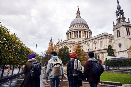 Four young people visiting St Paul's Cathedral