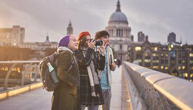 Friends on Millennium Bridge