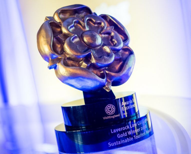 VisitEngland Awards for Excellence trophy
