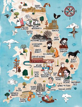 Jane austen literary map