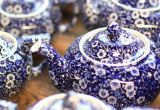 Blue and white English teapots