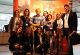 A group of people pose with a wax figure of Ed Sheeran at ExpoloreGB 2019