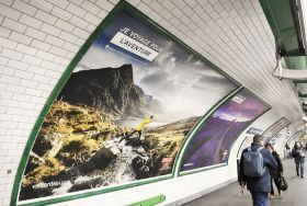 I Travel For advertising in Paris metro