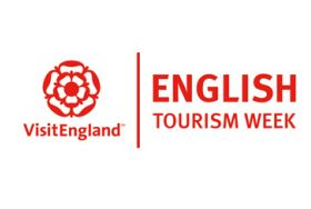 English Tourism Week logo + VisitEngland logo