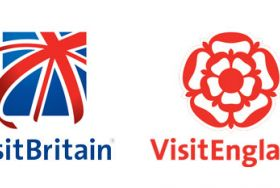 Left; VB logo with Union Jack; Right: VE logo with Tudor Rose