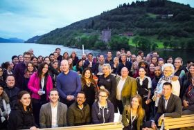 Group shot of the travel bloggers at the Social Travel Summit in Inverness
