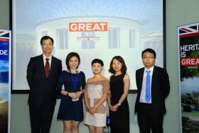 Mr. Dingyi Meng, Deputy General Manager EMEA of GZL International Travel Service, Ltd. Ms. Charlene Zhang, VisitBritain B2B Executive, South China & HK Ms. Minyan Chen, Director of Marketing and Branding of Diadema Travel Ms. Della Zhang, VisitBritain B2B Manager, China & HK Mr. Biao Luo, Vice General Manager of Guangdong  Nanhu  International Travel Service  Co., Ltd.