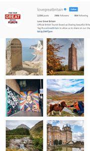 Love Great Britain Instagram homepage