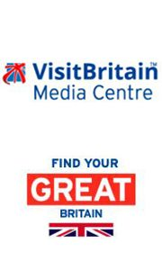 Online Media Centre logo with Find your GREAT Britain logo below