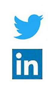 Twitter and LinkedIn logos