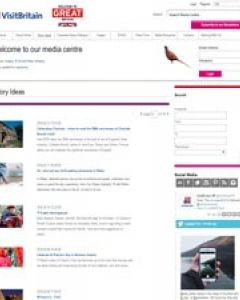 Screenshot of the VisitBritain/VisitEngland media centre