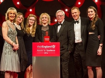 BBC Countryfile collecting their award at the VisitEngland Awards for Excellence