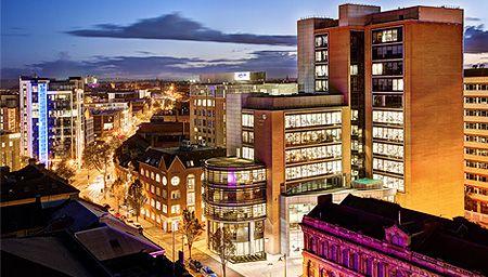 Nighttime scene of Belfast Lough