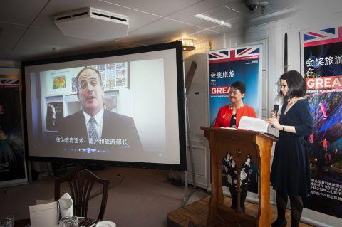 Michael Ellis speaking at MeetGB China