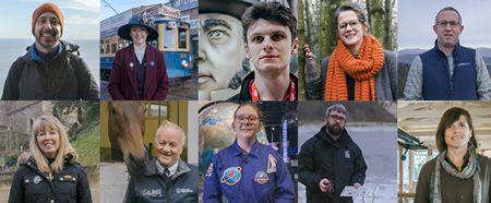 Tourism Superstar finalists 2019 - Top row right to left: Martin Curtis, Emily Hope, Ryan Sanders, Sarah Bird, Tim Green. Bottom row:  Amanda Bryett, Larry Bowden, Emma Ashley, Anthony Hurd, Jess Twitchin.