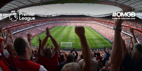 Fans watching a football match