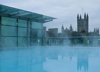 Exterior view of a spa pool in Bath