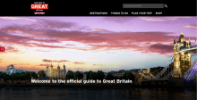Image of new VisitBritain website