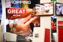 VisitBritain stand featuring shopping is GREAT at ILTM Asia 2014