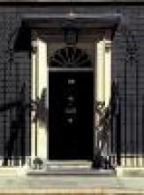 No.10 Downing Street's black front door in Westminster
