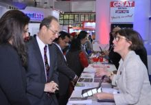 VisitBritain exhibiting at a trade show