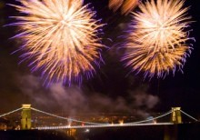 Fireworks over Clifton Suspension Bridge to mark the 200th anniversary of the birth of Isambard Kingdom Brunel