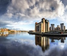 View across the river Tyne at Quayside with the Baltic, Newcastle, Tyne and Wear.