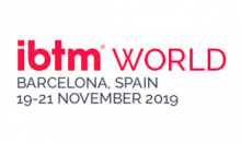 Red IBTM world Barcelona, Spain logo 2019