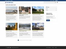 Screenshot of supplier directory website