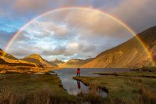Finding Gold, rainbow over Wast Water, Cumbria, England