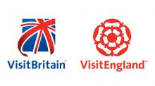 Logos of VisitBritain (a Union Jack flag) and VisitEngland (a Tudor rose)