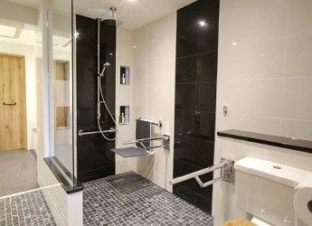a luxury accessible wet room