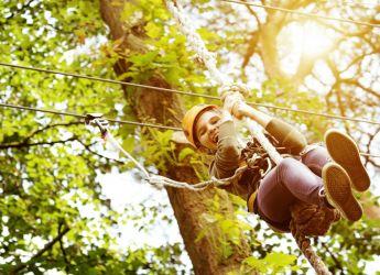 Child on zip-wire