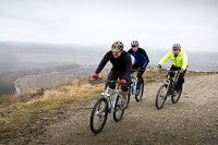 Men cycling in rural Yorkshire