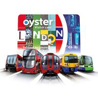 Visitor Oyster card logo featuring different modes of transport in London