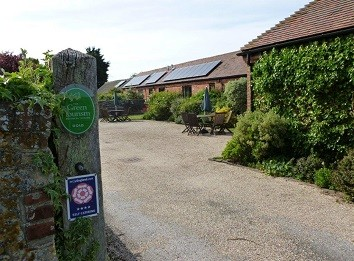 courtyard entrance of Canute Cottages