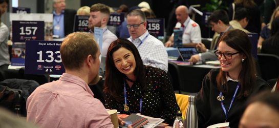 People meeting with tourism experts at ExploreGB 2019